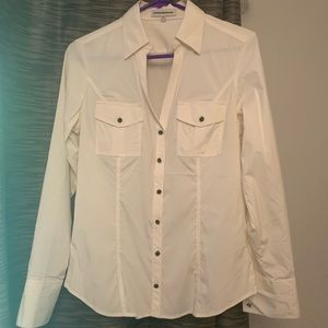 Express white M Fitted Dress Shirt